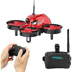 Micro FPV Racing Drone con Telecamera HD con 1000TVL FOV 120 ° Occhiali Grandi FPV Occhiali FPV - RTF