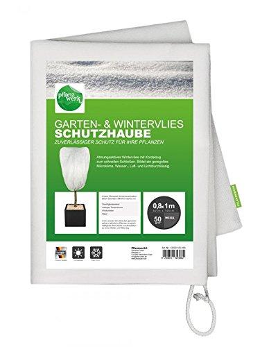 Pflanzwerk® Seau à Plantes Polaire d'hiver Housse de Protection 80x100cm Pot de Fleur 2er-Set *Antigel* *Protection UV* *Qualité européenne*