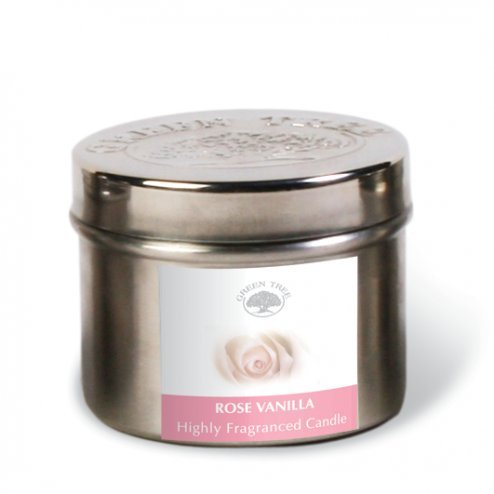 GREEN TREE CANDLE 0805460312560 Rose Vanille – Bougie parfumée