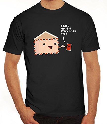 Geschenkidee Herren T-Shirt mit Stick with you Motiv von ShirtStreet Schwarz