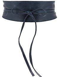 Fashiongen - Cinturón obi cuero artificial Mica