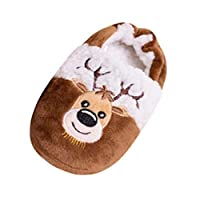 Ansenesna Casual Toddler Infant Kids Baby Warm Shoes Boys Girls Cartoon Christmas Slippers Child(4UK-13UK)