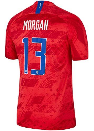 Morgan #13 USA Away Youth (Big Kids') Soccer Jersey 2019/20 (Red)