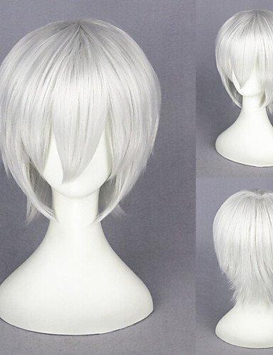 Die Weise XZL Perücken 13inch Kurz Cosplay Perücke weiße necrófago-kaneki Tokio Ken Silber