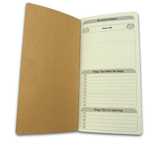 Gratis Diary wöchentlich + Jährlich Planer Journal Refill einfügen-To Do List + Tägliche/Jährliche Kalender für Standard Regular Größe Reisende Notebook 21x 10,8cm