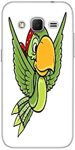 Snoogg Flying Parrot Vector Cartoon Illustration Solid Snap On - Back Cover A...