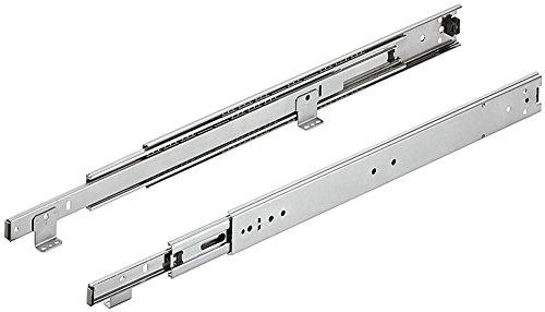 Schubladenschiene Kugelführung ACCURIDE 3301-60 Vollauszug 450 mm | Auszüge mit Rastung in geschlossener Position | Überauszug mit Winkel für aufliegende Bodenmontage | 1 Paar - Teleskopschienen