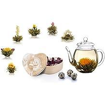 Creano Coffret cadeau fleurs de thé le thé dans boîte en bois – forme de  cœur ca880061940