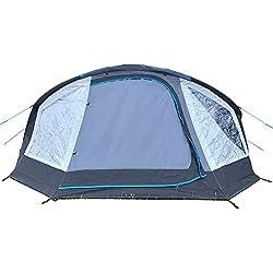 skandika Easy Air 3 XL | Aufblasbares Zelt mit Air Tubes | 3 Personen | Moskitonetze an Schlafkabine und Lüftung | Aufrollbare Dachabdeckung | 3.000mm Wassersäule | Eingenähter Zeltboden