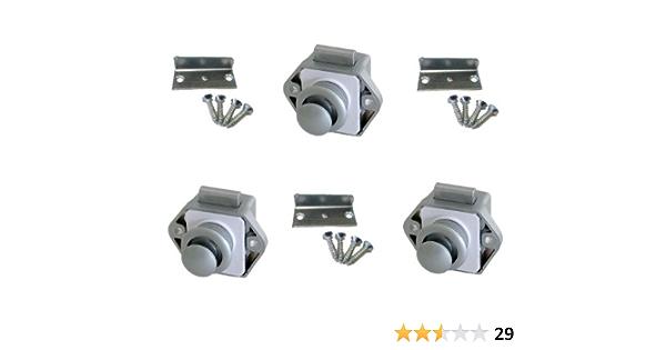 Freizeit Wittke Push Lock Minischloss 26mm Rosette Knopf 3er Set Silber Sport Freizeit