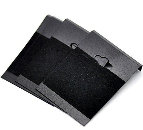 Stück Schwarz Plastik Halter Ohrringe Karte ()