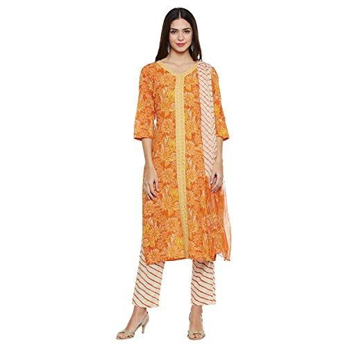 Pinkshink Cotton Orange Salwar Suit Dress Material k228