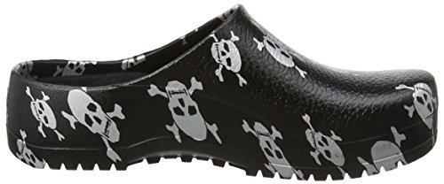 BIRKENSTOCK Herren Super Birki Clogs Schwarz (Black Skull)