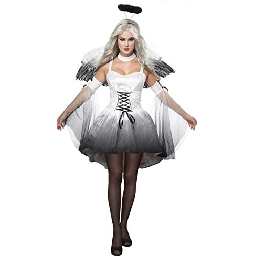 LBFKJ Cosplay Kostüm, Halloween Lady Sexy Dark Angel Kostüm Vampire Bride Devil Pack, attraktive ()