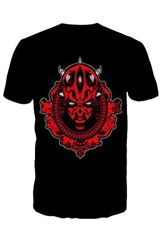 Star Wars para Hombre de Manga Corta Cuello Redondo Camisetas Nueva Jedi Sith Cuello Redondo Top Tees Darth Maul Small