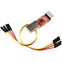 UART-Wandler-Adapter, serielle Schnittstelle / TTL, 3.3V / 5V, CP2102 USB Serial Converter mit Anschlussleitung für Linux, macOS, Win7, Win8, Win10