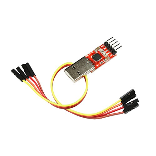 Paradisetronic.com USB-UART-Wandler, Serielle Schnittstelle/TTL zu USB, CP2102 USB Serial Converter für Linux, macOS, Win7, Win8, Win10 (Adapter) (Adapter Usb-uart)