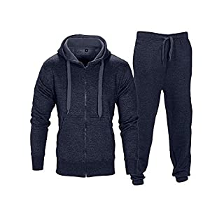 Love My Fashions® Men Tracksuit Set New Contrast Cord Fleece Hoodie Top Bottoms Jogging Zip Joggers Gym Sport Sweat Suit Pants Plus Size S M L XL XXL