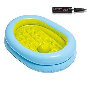 Thole Baby Piscina Gonfiabile Bagno Pieghevole Spessa Durevole Portable Lavabo Doccia Viaggio per con Pompa A Pedale 86x64x23cm