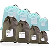 Nakeey 8 Pack Beutel Organisatoren, Reisen Beutel Wasserdicht Stausack Kordel Lagerung Taschen Beutel Aufbewahrungsbeutel Flachbeutel Packtasche Outdoor