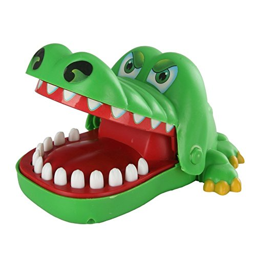 Krokodil - SODIAL(R)Gruen klassischen bissig Hand Krokodil Spiel