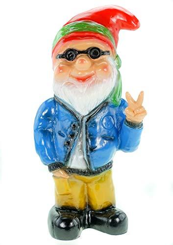 Zwerg Hippie, Victory, 32 cm, Gartenzwerg, Kunststoff