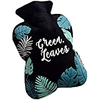 Preisvergleich für MSYOU Wärmflasche, einfacher tropischer Stil, warme Wasserbeutel, Handwärmer, tolles Geschenk für Frauen, Mädchen...