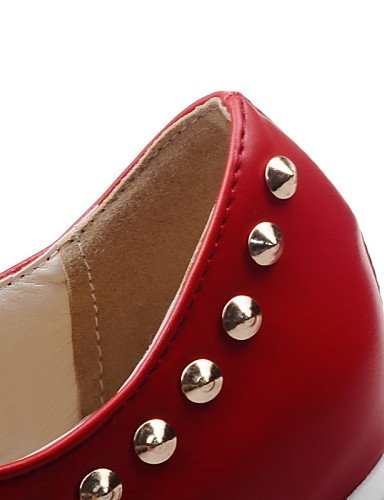 ZQ hug Scarpe Donna-Stringate-Casual-Comoda / Punta arrotondata-Plateau-Finta pelle-Nero / Rosso / Bianco / Beige , red-us8 / eu39 / uk6 / cn39 , red-us8 / eu39 / uk6 / cn39 red-us5.5 / eu36 / uk3.5 / cn35