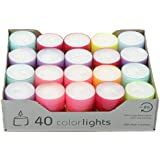 Wenzel-Kerzen 23-219-40-UK Summer Lights, Velas de combustión 8 Horas, PC Fundas Crazy Mix
