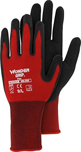 Wonder Grip Flex Nylon-Strick-Handschuh mit Nitril, EN 388 Cat II (4.1.3.1) (Pack á 12 Paar) - Größe: 9 Nylon-handschuh