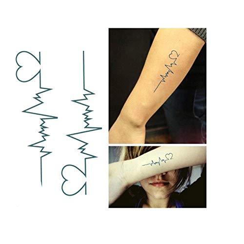 renliyong 2019 Neue10 Stück EKG Temporäre Tätowierung Männer Und Frauen Lieben Tattoo Sexy Produkte Wasserdicht Einweg Tattoo Aufkleber Decken Narben