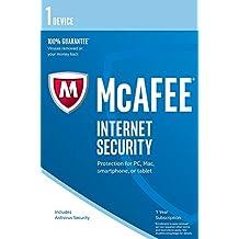 McAfee Internet Security - Software Edition 2018 von der Herstellerseite | 1 Gerät | 1 Jahr | mit den neusten Updates FFP(Frustfreie Verpackung)