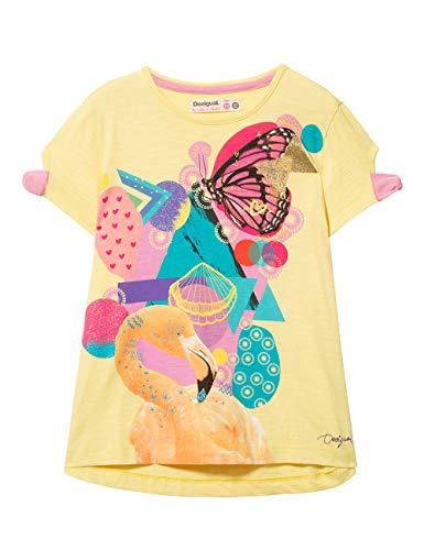 Desigual Mädchen Girl Knit Short Sleeve (TS_LUISIANA) T-Shirt, Gelb (Crazy Yellow 8043), 164 (Herstellergröße: 13/14) -