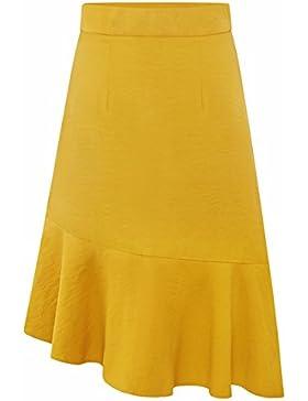 QPSSP-cintura alta y una falda, largos e irregulares, cola de pescado falda falda Mujer Torso