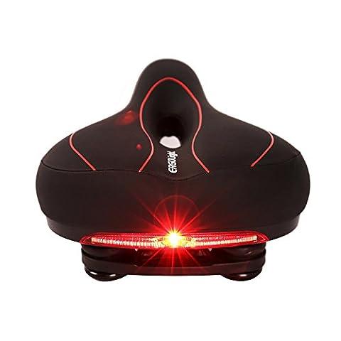 West Cyclisme Relif pression sécurité Selle de vélo avec lumière d