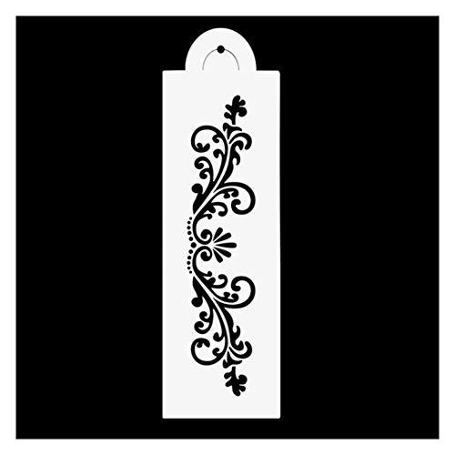 Schablonen, DIY Flower Emboss Lace Fondant Kuchen Schablone Grenze Side Decor Puderzucker Craft Mold,ColourA,10Pcs ()