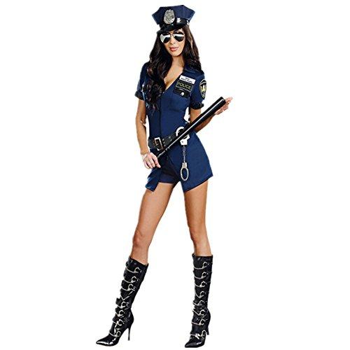 Imagen de disfraz de policía para mujer cosplay uniforme halloween carnaval