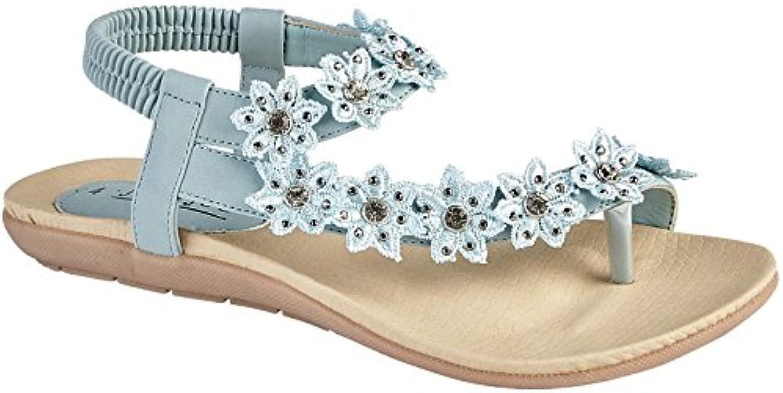jo & joe mesdames faux cuir orteil... mode mode mode après strass plats fleurs b0792y ljnq parent tong sandales taille | Matériaux De Qualité  561a60
