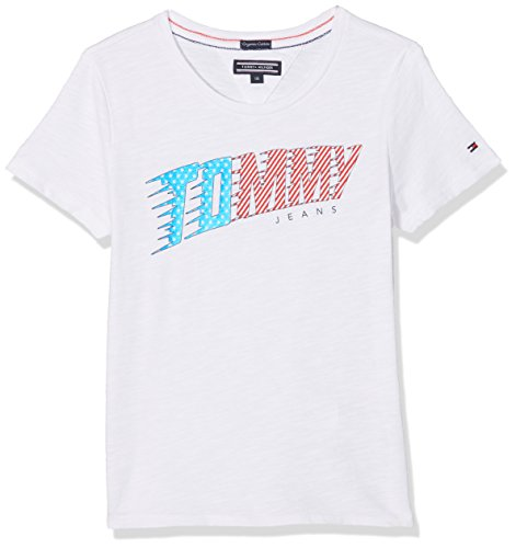 Tommy Hilfiger Girl's AME Animated Logo Tee S/S T-Shirt