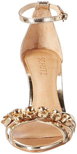 Schutz Damen S0-20660097 Riemchensandalen Gold (Platina)