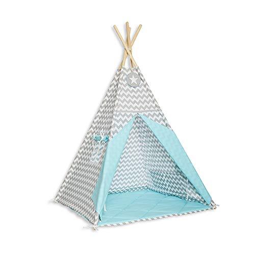 Fun with mum TEE-MAT-MAG-TUR Tipi Set mit Bodenmatte - Magic Turquoise Mat ? Tee