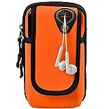 HUIHUAN Arm Bag Outdoor Running Sport Wrist Bag Verdicktes Armband Übergroßes Wasserdichtes Material Links mit Kopfhörerloch Einstellbare Größe