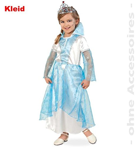narrenwelt Schneeprinzessin Eisprinzessin 128 1tlg Kleid Mädchen Kinder-Kostüm Fasching