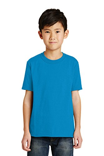 Port & Company® - Youth Core Blend Tee. PC55Y Sapphire L - Pc55y Port