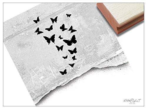 Stempel Tierstempel Schmetterlinge Schwarm - Motivstempel für Karten Geschenkanhänger Basteln Tischdeko Scrapbook Geschenk für Kinder - zAcheR-fineT