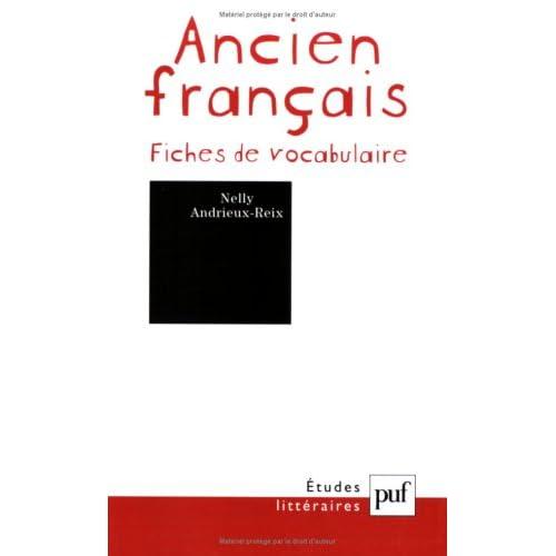 Ancien français : Fiches de vocabulaire