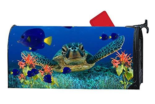 Custom Mailbox Covers Briefkasten-Abdeckung magnetisch, Personalisierbar, Schildkröten-Umschlag - Vinyl mit vollständigem Magnet auf der Rückseite 6.5