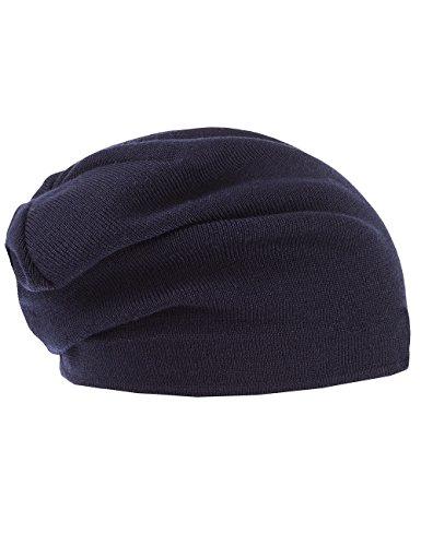 Capo Unisex Strickmütze Cool Wool Beanie Blau (marine 18)