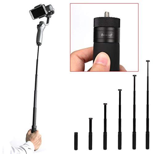 Flycoo Selfie Stick Verlängerungsstange für DJI OSMO Mobile 2 Selfie Einbeinstativ 14.8cm - 66cm Verstellbare Verlängerung Hand Gimbal Verlängerungsstange Scalable Halter