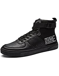 BUSL Mens Womens Unisex Couple Casual Fashion Sneakers Bikini de tobillo respirable Boot Unisex Zapatillas Zapatos . black . 36